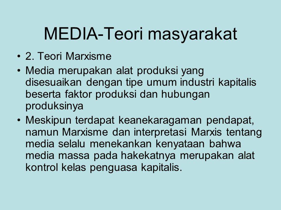 MEDIA-Teori masyarakat 2.
