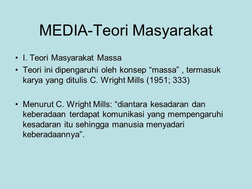 MEDIA-Teori Masyarakat I.