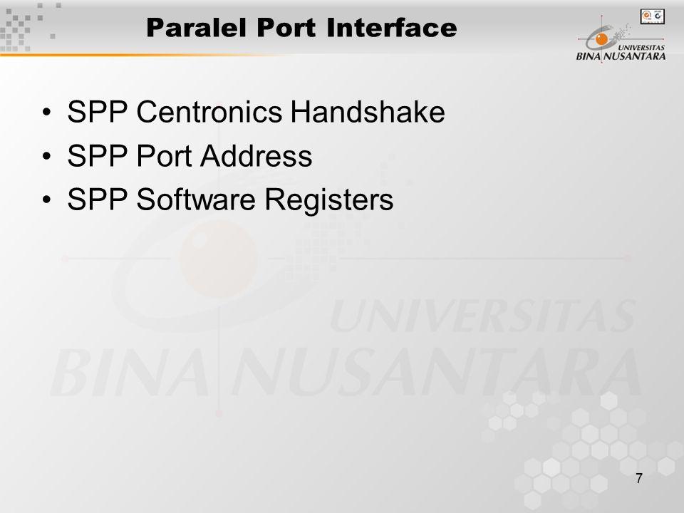 18 Programmable Peripheral Interface PPI 8255 Mode 1 (Strobed Input): Sebagian pin Port C digunakan untuk, IBF, dan INTR