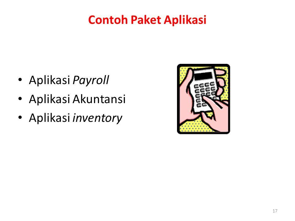 17 Contoh Paket Aplikasi Aplikasi Payroll Aplikasi Akuntansi Aplikasi inventory