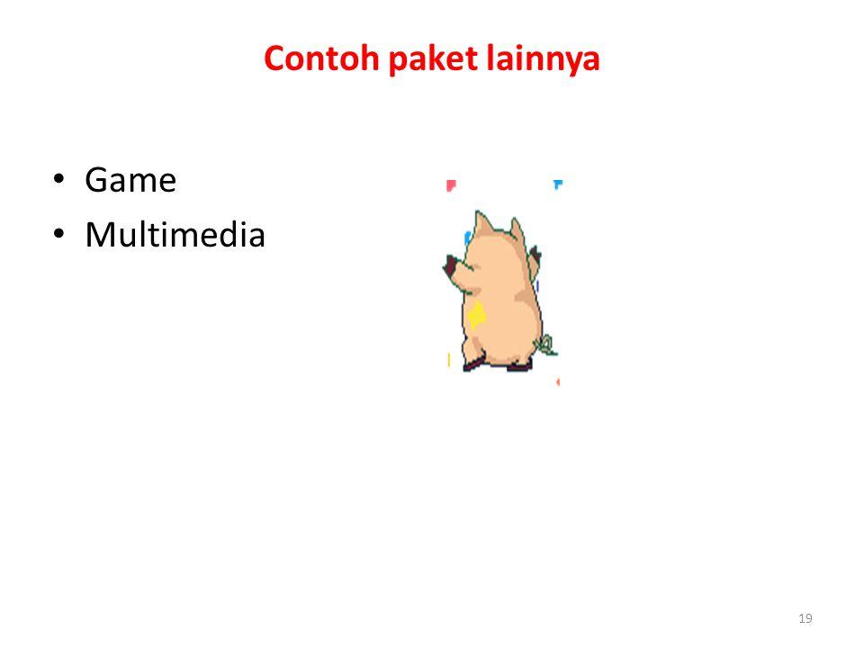 19 Contoh paket lainnya Game Multimedia