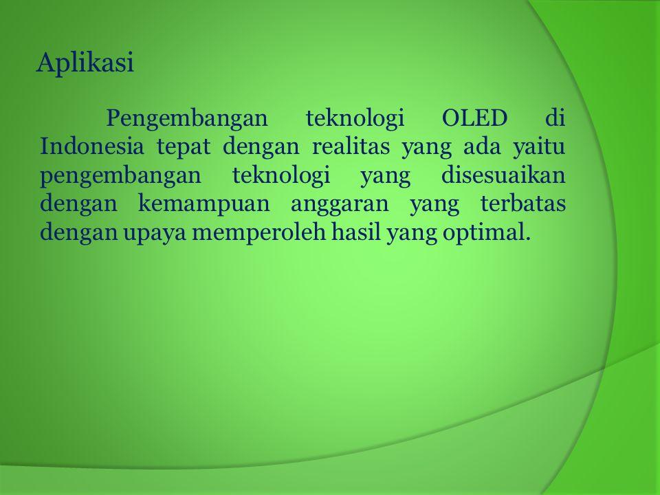 Beberapa aplikasi dari layar OLED 1).