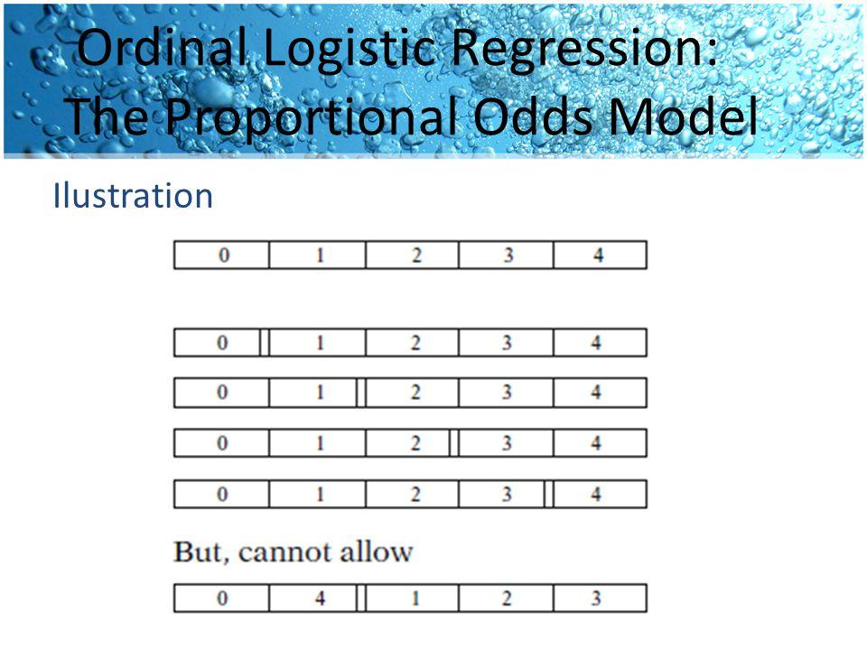 Ordinal Logistic Regression: The Proportional Odds Model Ilustration