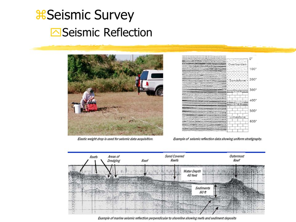 zSeismic Survey ySeismic Reflection