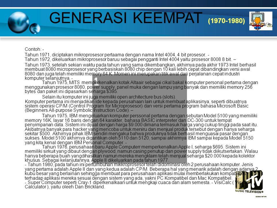 LAMPIRAN Generasi Ketiga (1964-1980) Generasi Keempat (1980 - Sekarang)