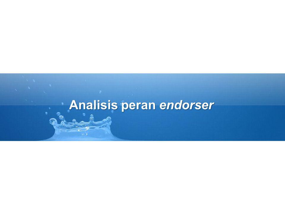 Analisis peran endorser