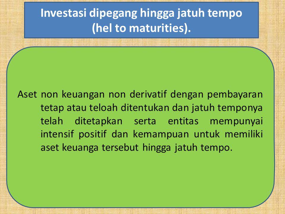 Aset non keuangan non derivatif dengan pembayaran tetap atau teloah ditentukan dan jatuh temponya telah ditetapkan serta entitas mempunyai intensif po
