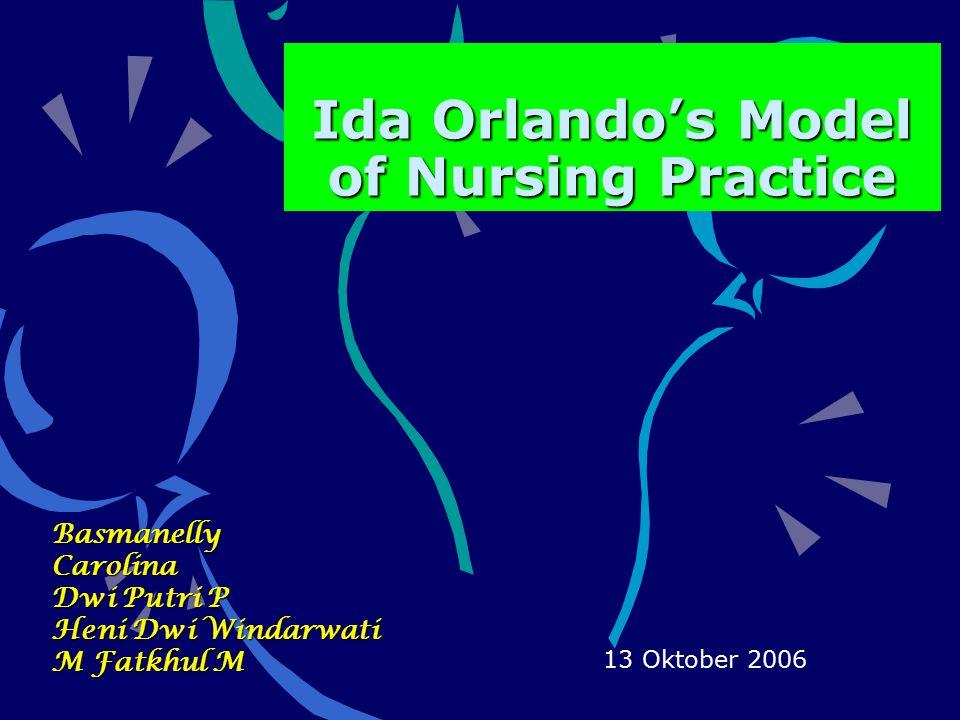 Perbandingan Proses Orlando dengan Proses Keperawatan Pengkajian Reaksi Perawat Diagnosa Kebutuhan untuk bantu Perencanaan Pengkajian ulang Implementasi Tindakan perawat Evaluasi