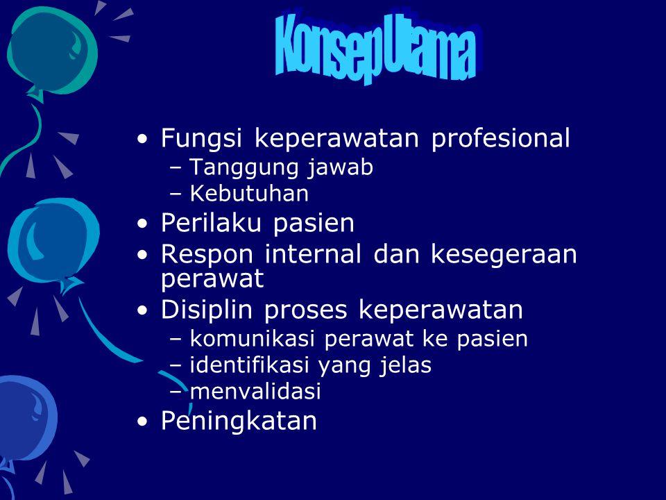 Profesi yang jelas Keperawatan profesional memiliki fungsi dan hasil yang jelas Keperawatan adalah berbeda dengan pengobatan