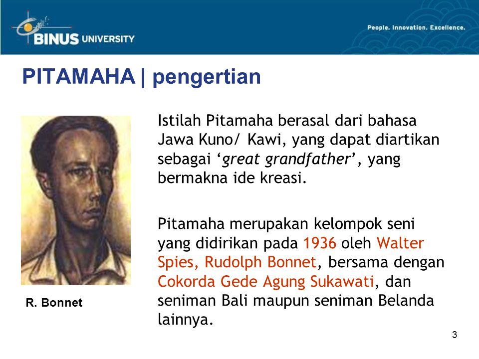 3 PITAMAHA | pengertian Istilah Pitamaha berasal dari bahasa Jawa Kuno/ Kawi, yang dapat diartikan sebagai 'great grandfather', yang bermakna ide krea