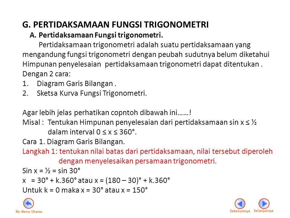 Langkah 2 : Gambarkan setiap batas nilai dari satu periode tersebut pada garis bilangan.