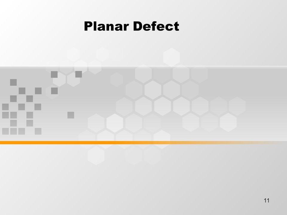 11 Planar Defect