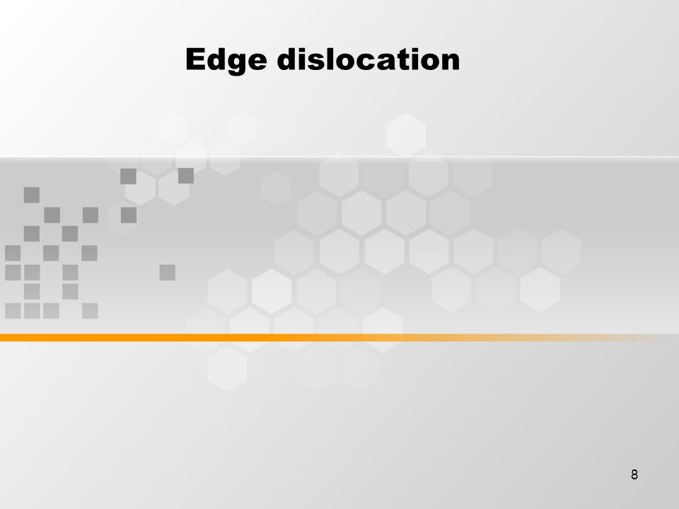 8 Edge dislocation