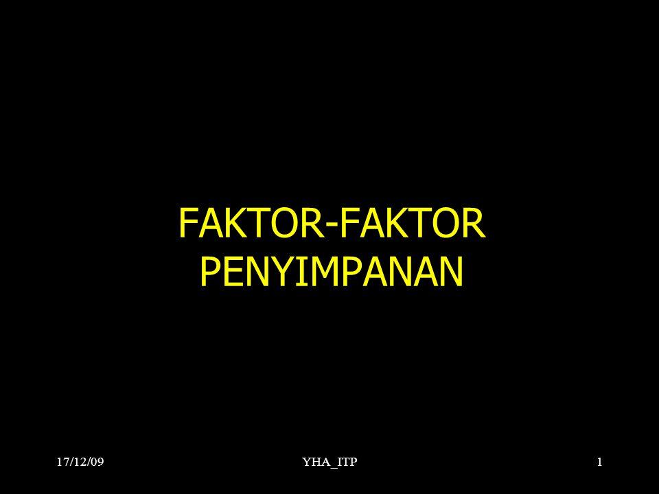 FAKTOR-FAKTOR PENYIMPANAN YHA_ITP117/12/09