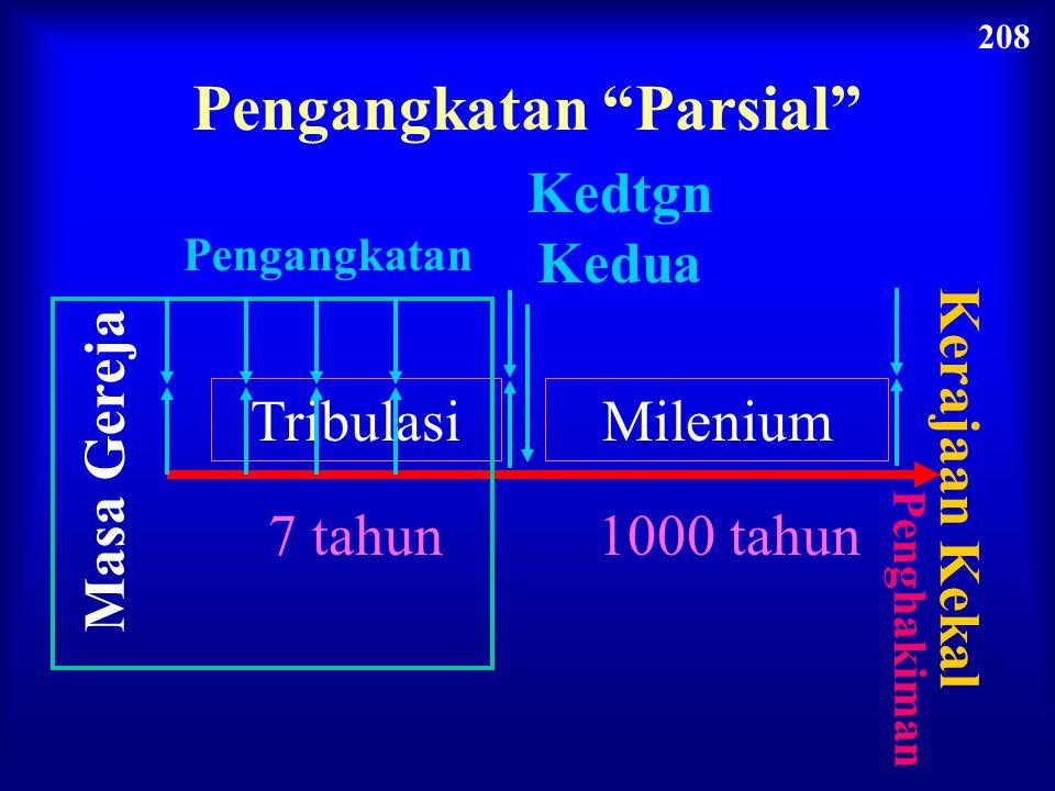 """Masa Gereja Kedtgn Kedua Pengangkatan Tribulasi 7 tahun Milenium 1000 tahun Kerajaan Kekal Penghakiman Pengangkatan """"Mid-Trib"""" 208"""