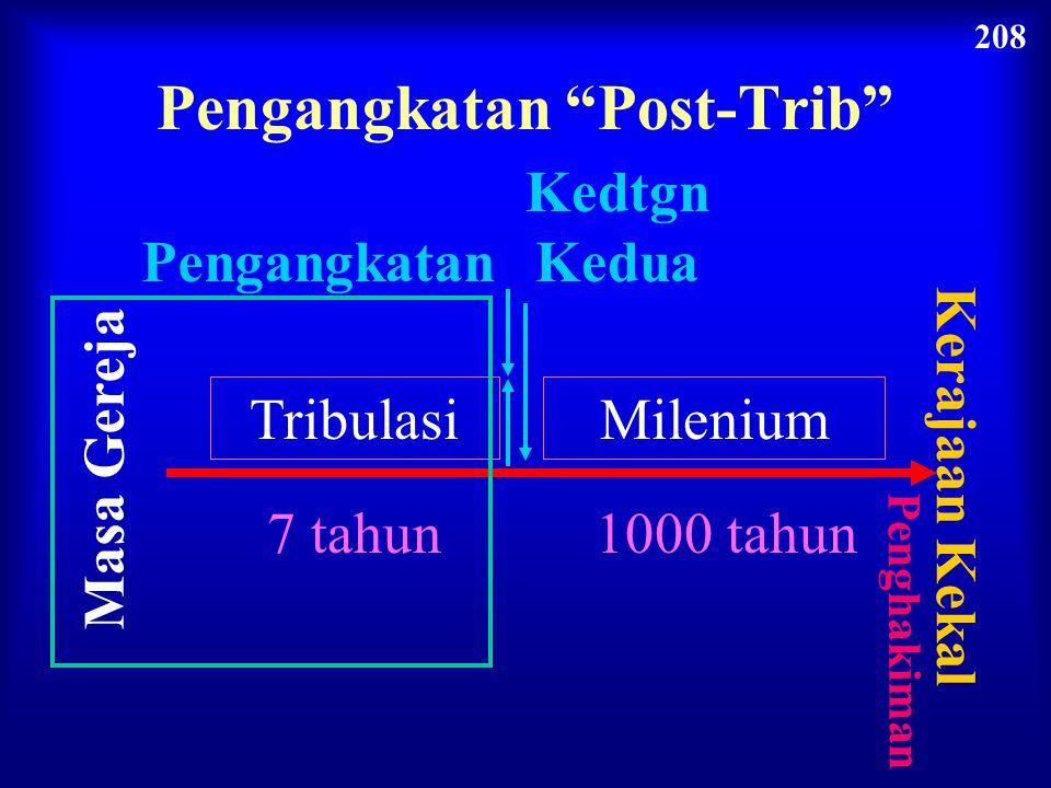 """Masa Gereja Kedtgn Kedua Pengangkatan Tribulasi 7 tahun Milenium 1000 tahun Kerajaan Kekal Penghakiman Pengangkatan """"Parsial"""" 208"""