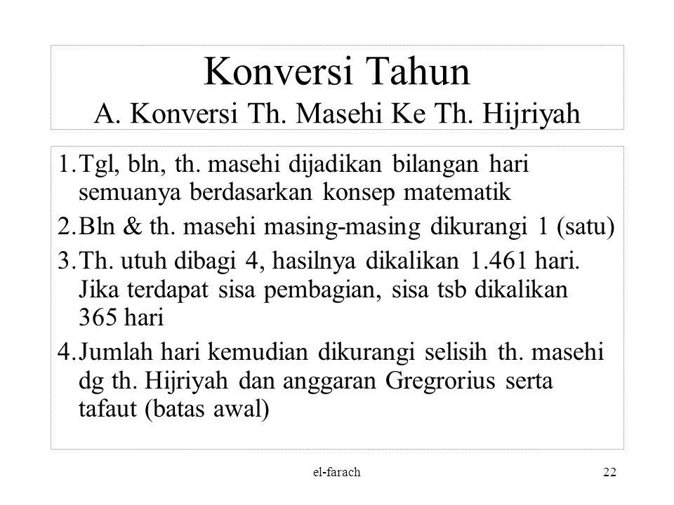 el-farach21 Jawab: 3. Tanggal 8 – 12 – 1330 = 1329 tahun + 11 bulan + 8 hari = 1329 : 30 = 44 daur + 9 thn + 11 bln + 8 hari = 44 daur = 44 x 10.631=