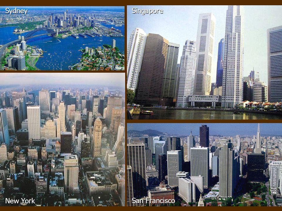New York Sydney San Francisco Singapore