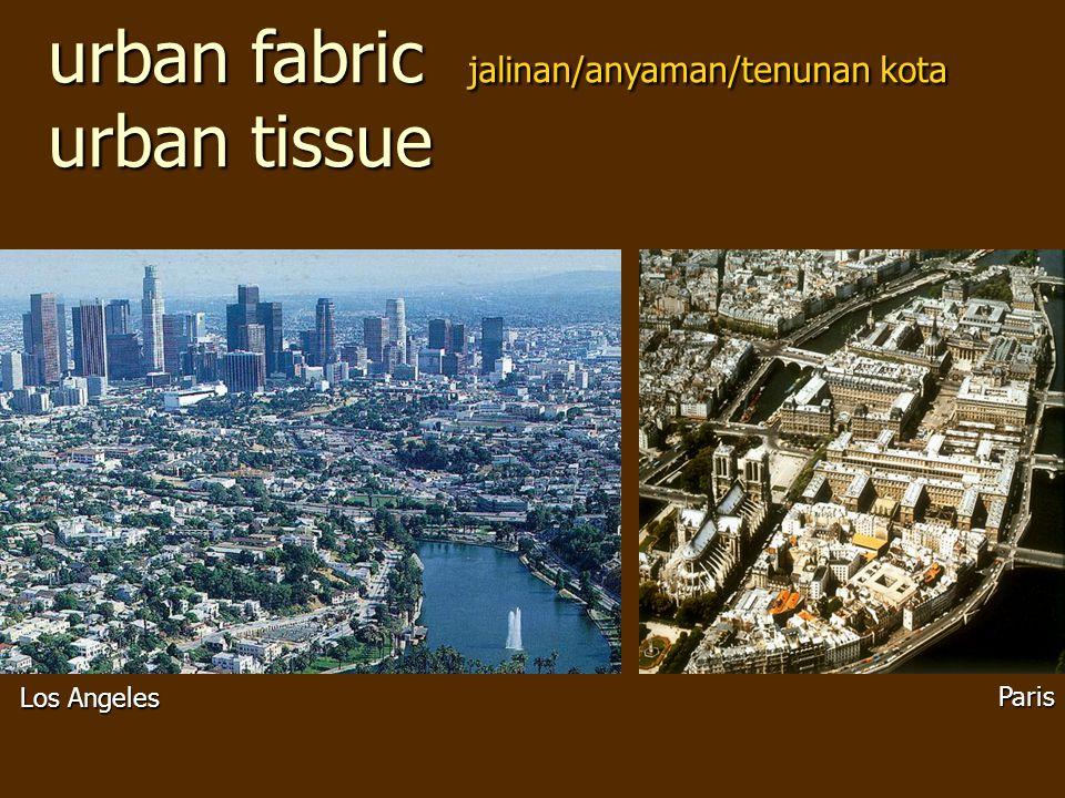 urban fabric jalinan/anyaman/tenunan kota urban tissue Los Angeles Paris