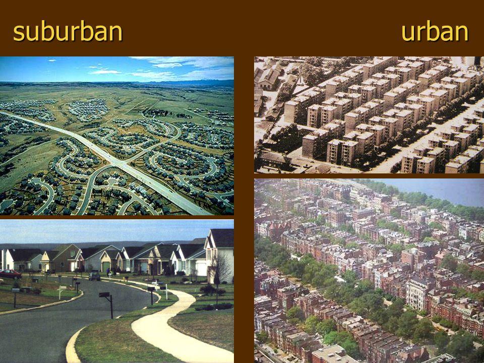 suburbanurban