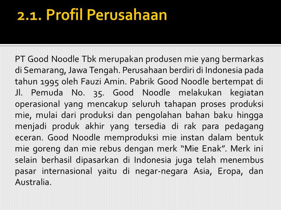  PT Good Noodle Tbk merupakan produsen mie yang bermarkas di Semarang, Jawa Tengah.