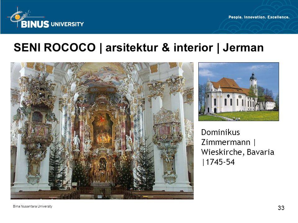 Bina Nusantara University 33 SENI ROCOCO | arsitektur & interior | Jerman Dominikus Zimmermann | Wieskirche, Bavaria |1745-54