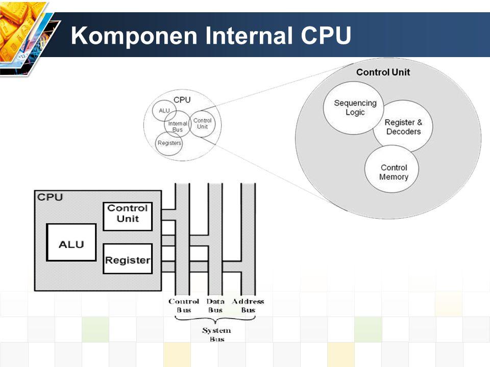 Komponen – komponen CPU Arithmetic Logic Unit Control Unit Register Melakukan operasi aritmetika dan operasi logika berdasar instruksi yang ditentukan.
