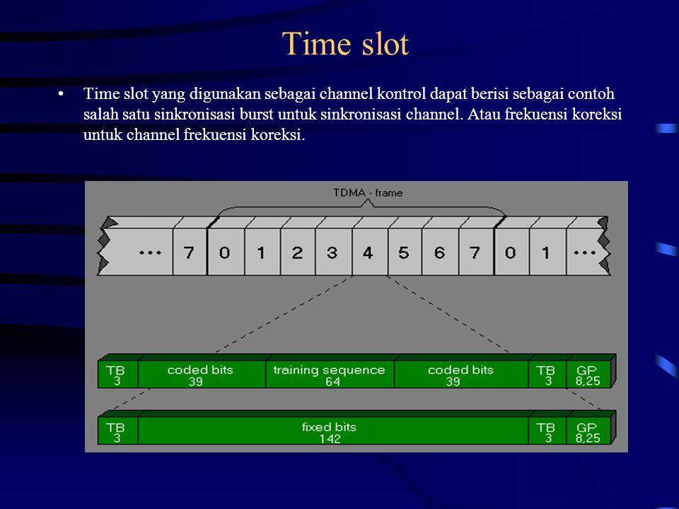3.6 Bursts Struktur bit dari channel tergantung dari yang digunakan oleh trafik atau channel kontrol.
