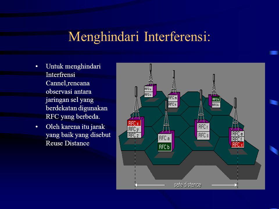 Perbedaan antara GSM dan DCS: –Frekuensi operasi.–Bandwith dari sub band.