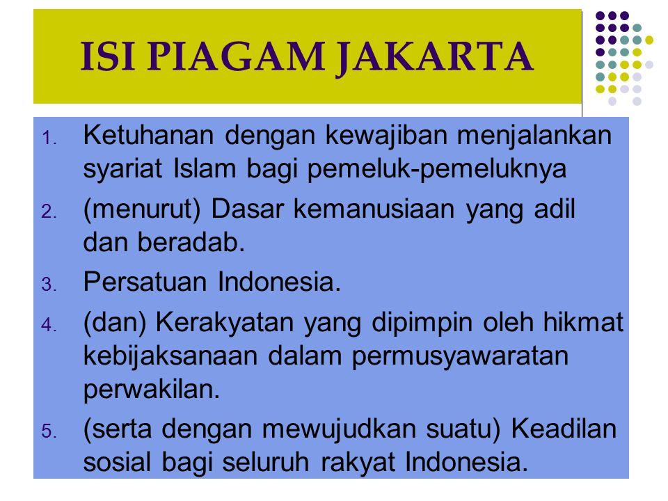 ISI PIAGAM JAKARTA 1.