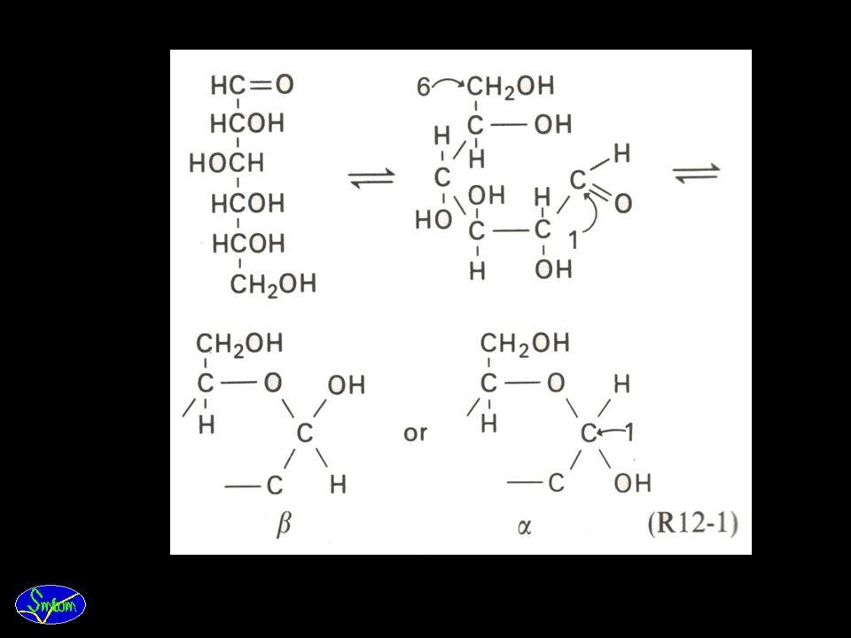 11.Gugusan fungsional aldehid atau keton bereaksi dengan gugusan hidroksil dari C yang paling jauh dari aldehid atau keton dan membentuk cincin (cycli