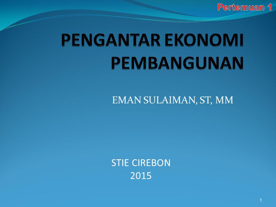 EMAN SULAIMAN, ST, MM 1 STIE CIREBON 2015