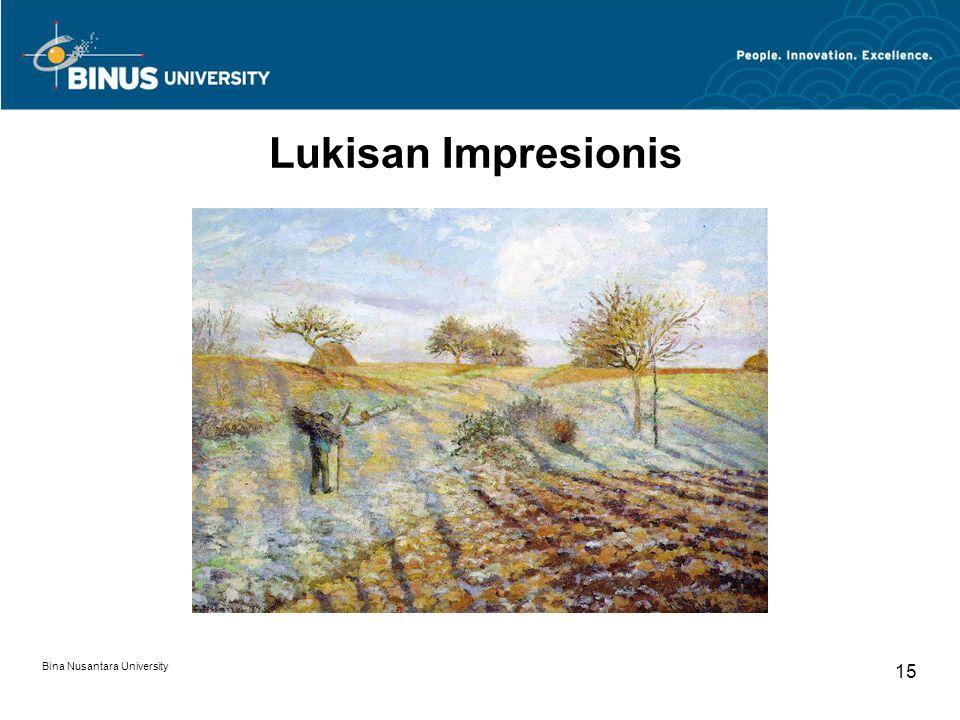 Bina Nusantara University 15 Lukisan Impresionis