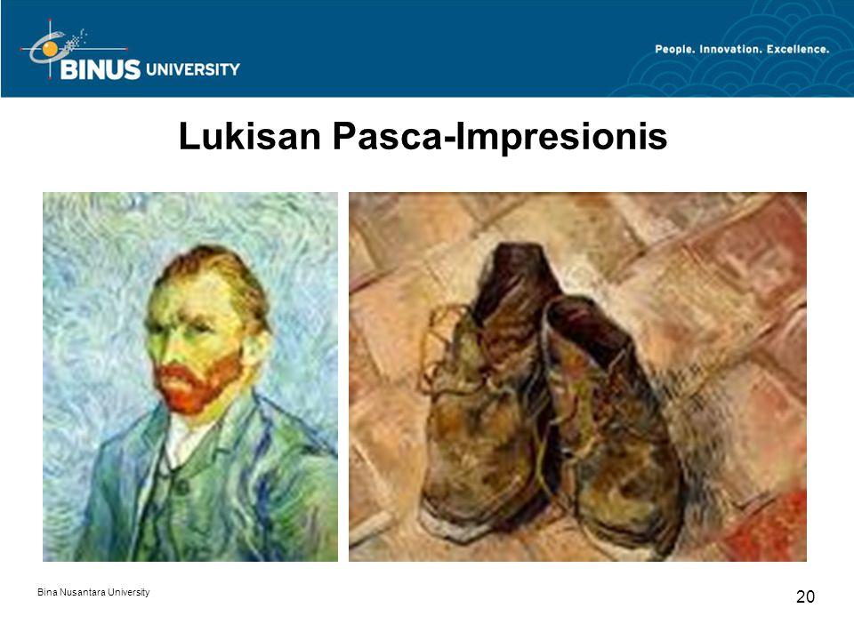 Bina Nusantara University 20 Lukisan Pasca-Impresionis