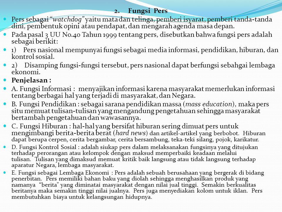 3.Perkembangan Pers di Indonesia Dr.