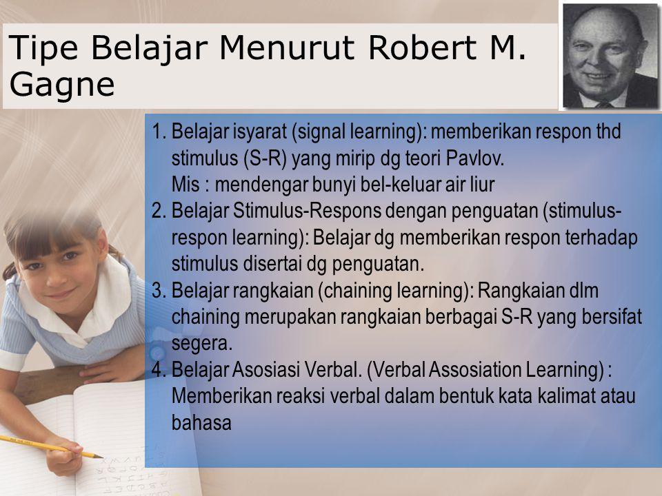 TIPE BELAJAR MENURUT BLOOM (BERBASIS HASIL) 1.