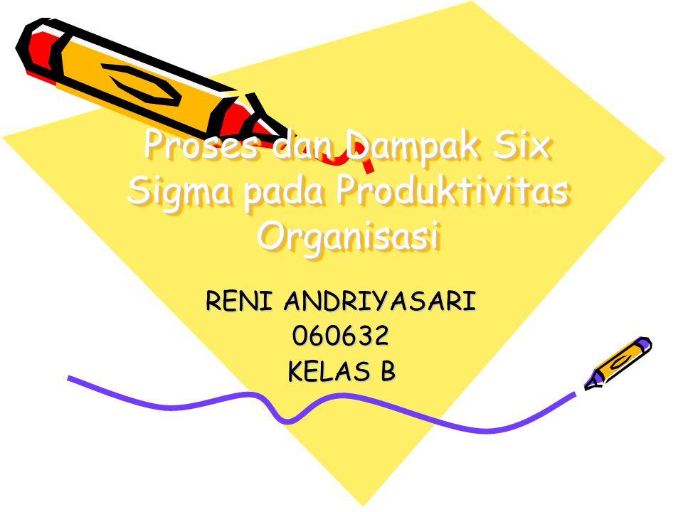 Proses dan Dampak Six Sigma pada Produktivitas Organisasi RENI ANDRIYASARI 060632 KELAS B
