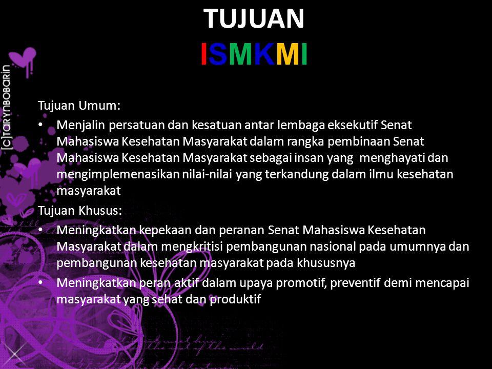 DAFTAR INSTITUSI ANGGOTA PENINJAU ISMKMI 1.STIKES PRIMA NUSANTARA, Bukittinggi 2.STIKES ALIFAH, Padang 3.STIKES HARAPAN IBU, Jambi 4.STIKES TRI MANDIRI SAKTI, Bengkulu 5.STIKES BANTEN, Jakarta 6.STIKES AHMAD YANI, Bandung 7.STIKES DHARMA HUSADA, Bandung 8.STIKES BINA PUTRA BANJAR, Banjar 9.STIKES INDRAMAYU, Indramayu 10.STIKES RESPATI, Tasikmalaya 11.STIKES NGUDI WALUYO, Semarang 12.UNIVERSITAS VETERAN, Solo 13.STIKES SURYA MITRA HUSADA, Kediri 14.UNIVERSITAS DAYANU IKHSANUDDIN, Bau-bau Ps : yang terdata secara nasional