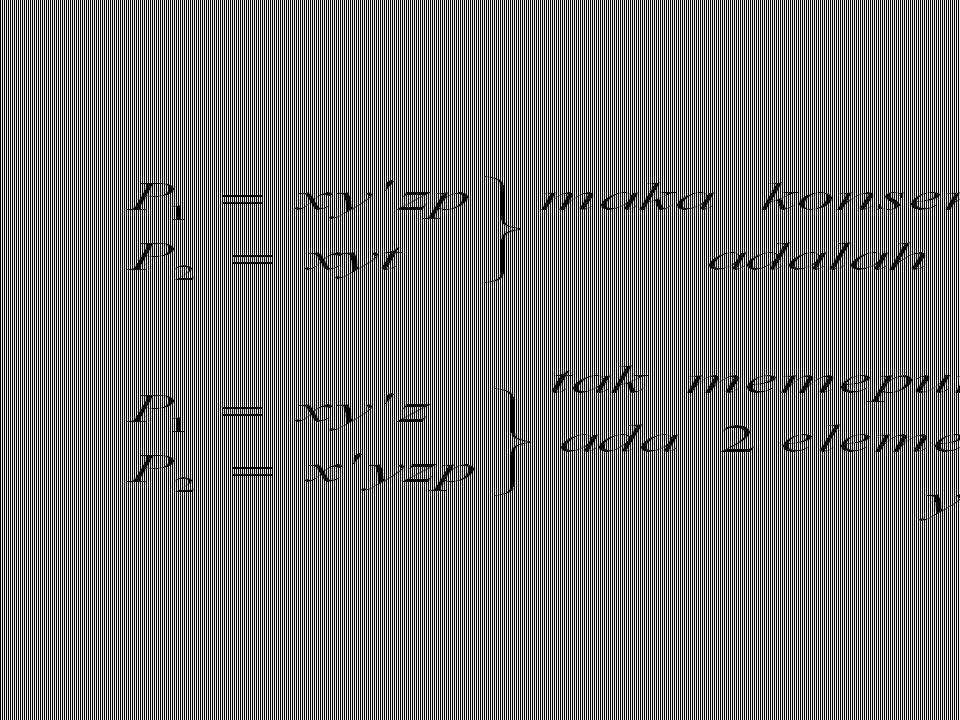 Konsensus dari dua fundamental product Jika fundamental product P1 dan P2, ada satu elemen saja yang komplementer,maka konsensus (Q)dari P1 dan P2 ada