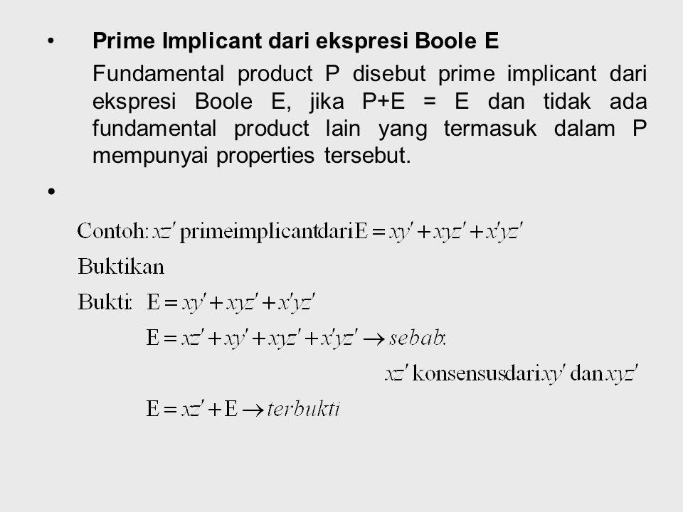 Teori : Jika Q konsensus P1 dan P2 maka P1+P2+Q = P1+P2 Contoh :