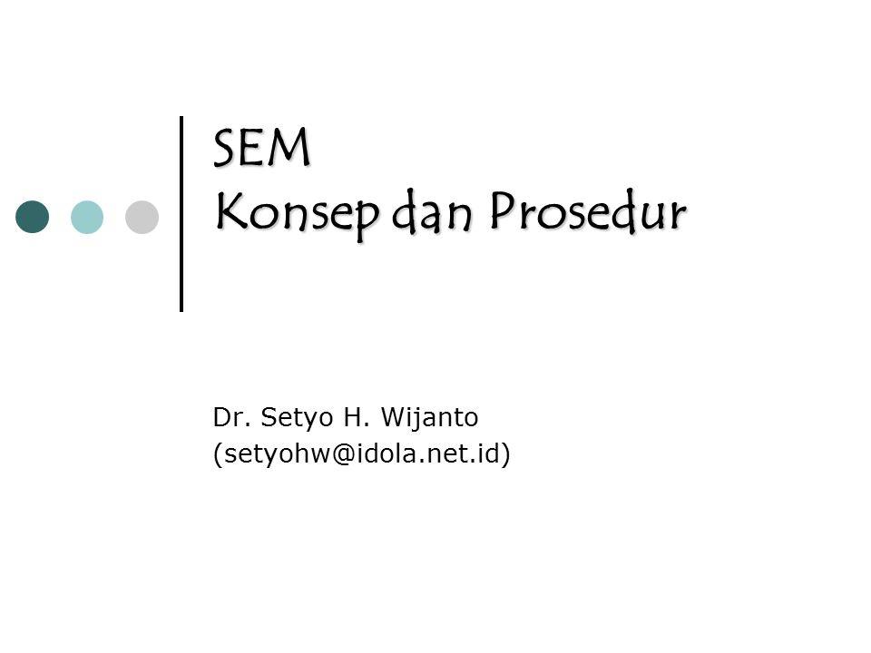 SEM Konsep dan Prosedur Dr. Setyo H. Wijanto (setyohw@idola.net.id)