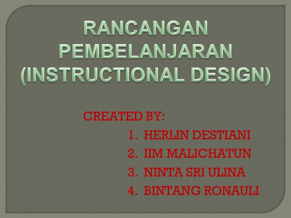 CREATED BY: 1.HERLIN DESTIANI 2.IIM MALICHATUN 3.NINTA SRI ULINA 4.BINTANG RONAULI