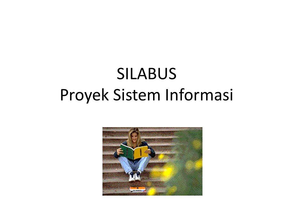 Tujuan Instruksional Umum (TIU) Setelah mengikuti perkuliahan ini mhsw dapat 1.Mengenal dan memahami cara mengelola proyek system informasi 2.Mengetahui dan memahami menggunakan software untuk mengelola proyek sistem Informasi