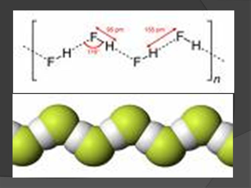 Hidrogen Fluorida HF sebagai pelarut : t.l = -83 oC T.d = 19,4 oC Tetapan dielektriknya tinggisifat pelarut yang baik Melarutkan beberapa garam tanpa