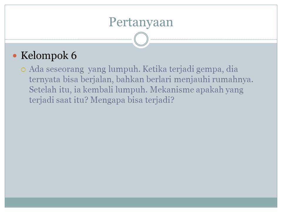 Pertanyaan Kelompok 6  Ada seseorang yang lumpuh.