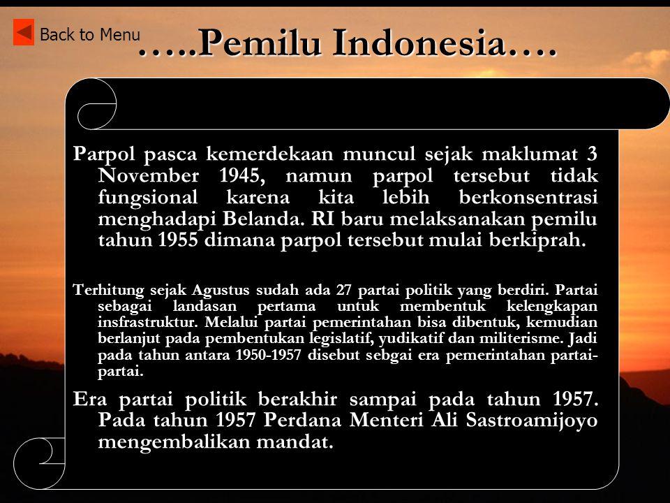 Sistem Pemerintahan Pemilu Indonesia Dekrit Presiden 5 Juli 1959