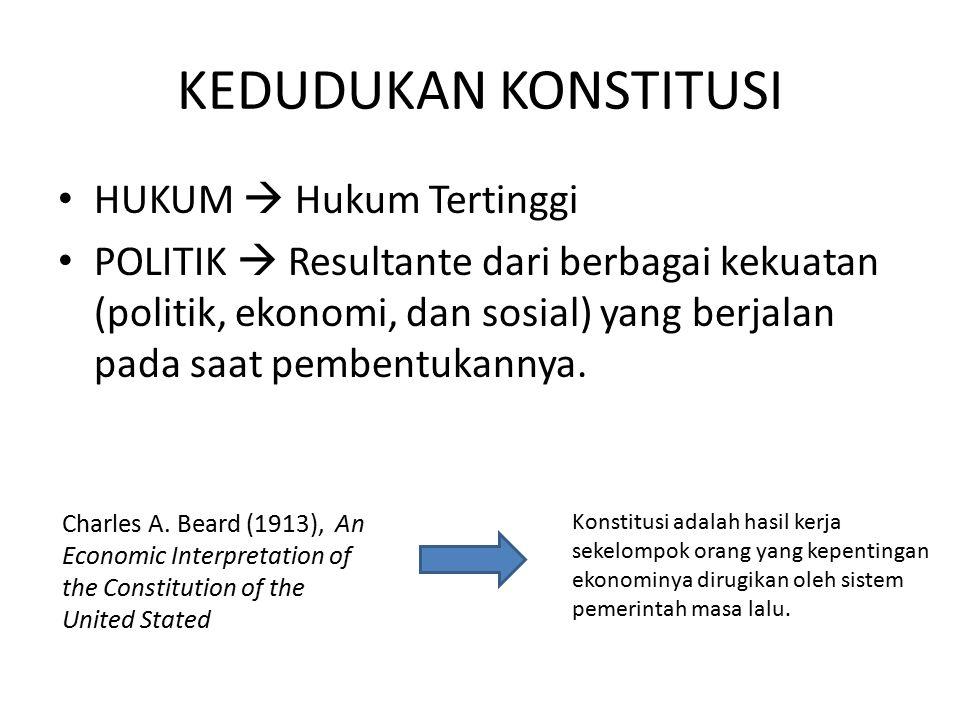 PENDAHULUAN PROSES PERUBAHAN UUD NEGARA REPUBLIK INDONESIA TAHUN 1945 Antara lain: Amandemen UUD 1945 Penghapusan doktrin Dwi Fungsi ABRI Penegakan hukum, HAM, dan pemberantasan KKN Otonomi Daerah Kebebasan Pers Mewujudkan kehidupan demokrasi Tuntutan Reformasi Pembukaan Batang Tubuh - 16 bab - 37 pasal - 49 ayat - 4 pasal Aturan Peralihan - 2 ayat Aturan Tambahan Penjelasan Sebelum Perubahan Kekuasaan tertinggi di tangan MPR Kekuasaan yang sangat besar pada Presiden Pasal-pasal yang terlalu luwes sehingga dapat menimbulkan multitafsir Kewenangan pada Presiden untuk mengatur hal-hal penting dengan undang-undang Rumusan UUD 1945 tentang semangat penyelenggara negara belum cukup didukung ketentuan konstitusi Latar Belakang Perubahan Menyempurnakan aturan dasar, mengenai: Tatanan negara Kedaulatan Rakyat HAM Pembagian kekuasaan Kesejahteraan Sosial Eksistensi negara demokrasi dan negara hukum Hal-hal lain sesuai dengan perkembangan aspirasi dan kebutuhan bangsa Tujuan Perubahan Pasal 3 UUD 1945 Pasal 37 UUD 1945 TAP MPR NO.VIII/MPR/1998 TAP MPR No.IX/MPR/1999 TAP MPR No.IX/MPR/2000 TAP MPR No.XI/MPR/2001 Dasar Yuridis Tidak mengubah Pembukaan UUD 1945 Tetap mempertahankan Negara Kesatuan Republik Indonesia Mempertegas sistem presidensiil Penjelasan UUD 1945 yang memuat hal-hal normatif akan dimasukan ke dalam pasal-pasal Perubahan dilakukan dengan cara adendum Kesepakatan Dasar Sidang Umum MPR 1999 Tanggal 14-21 Okt 1999 Sidang Tahunan MPR 2000 Tanggal 7-18 Agt 2000 Sidang Tahunan MPR 2001 Tanggal 1-9 Nov 2001 Sidang Tahunan MPR 2002 Tanggal 1-11 Agt 2002 Sidang MPR Pembukaan Pasal-pasal: - 21 bab - 73 pasal - 170 ayat - 3 pasal Aturan Peralihan - 2 pasal Aturan Tambahan Hasil Perubahan 1
