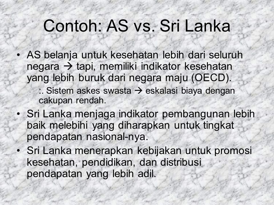 Contoh: AS vs.