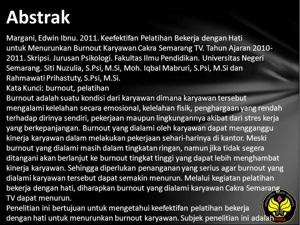 Abstrak Margani, Edwin Ibnu. 2011.