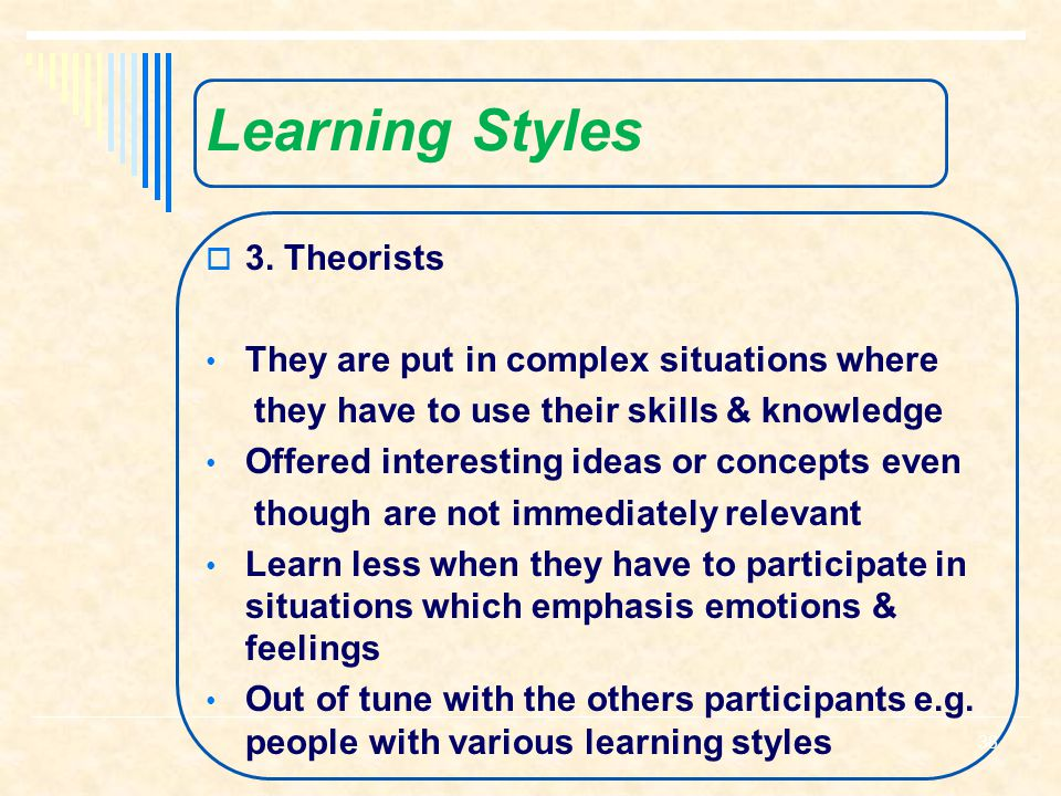 Learning Styles  2.